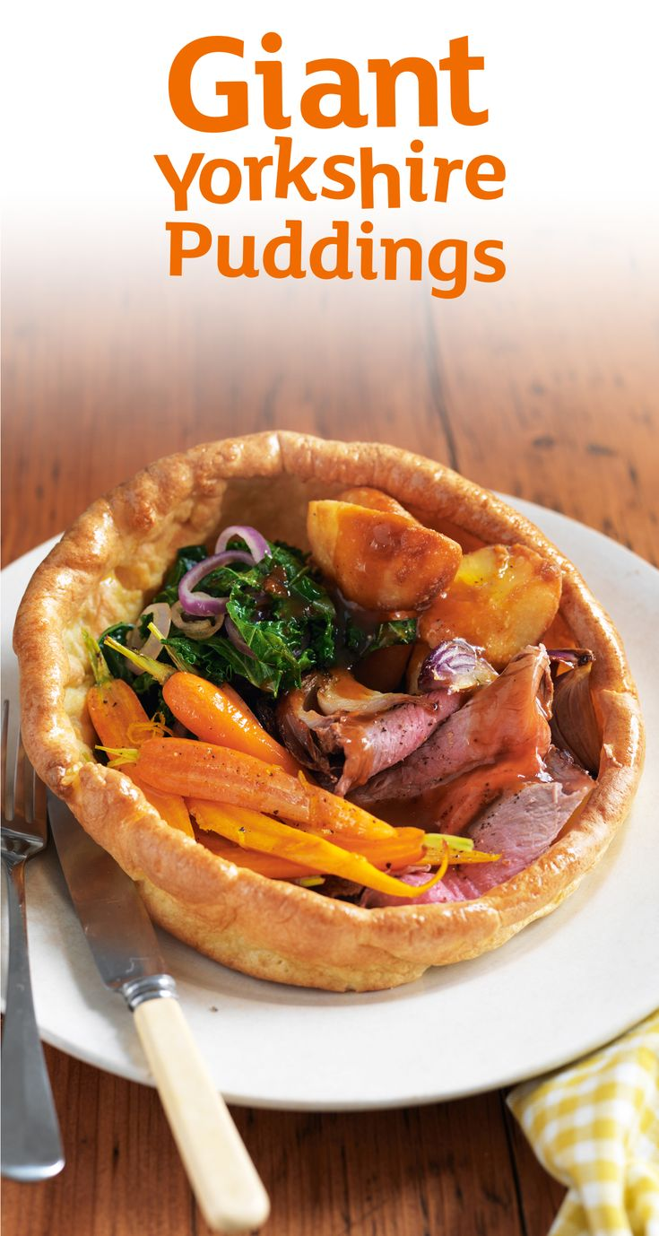 Roast dinners taste better when they're served up in a giant Yorkshire pudding. Rustle this recipe up for Mother's Day in just 30 minutes.