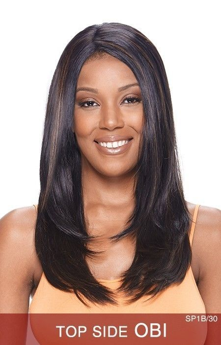 TOP SIDE OBI BY VANESSA SYNTHETIC HAIR EXPRESS LACE FRONT WIG LONG SIDE PART #Vanessa #LaceFrontWig
