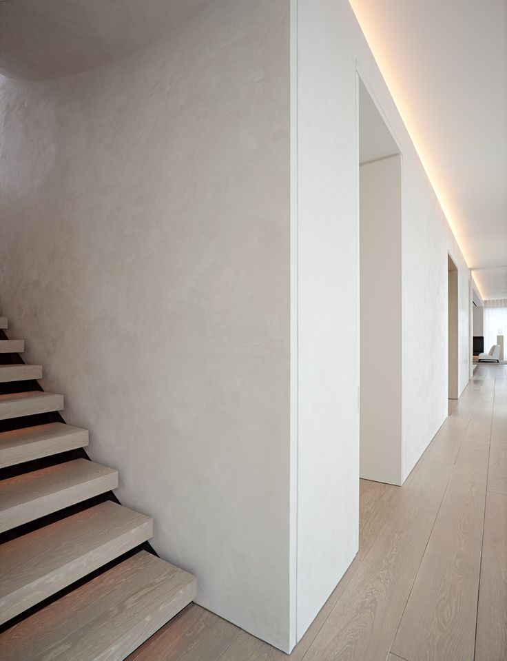 Lighting/Treads/Wood/Wall/Light --- John Pawson - Schrager Apartment // Minimalist Interior. All in the detail.