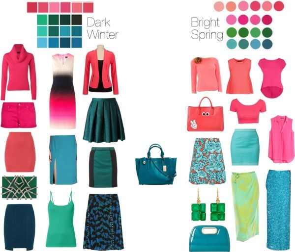 Dark Winter vs Bright Spring - Coral, Pink, and Turquoise