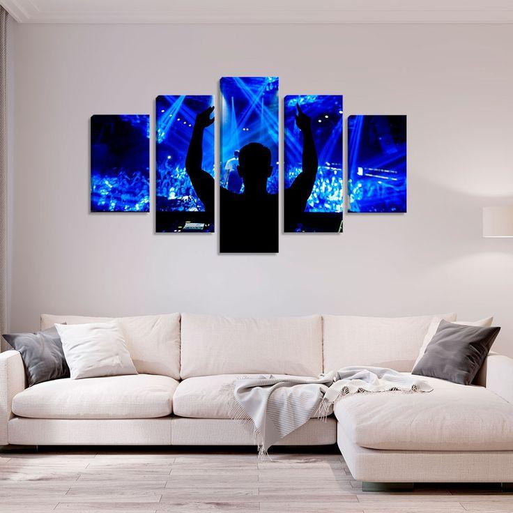 Conjunto de 5 Fotos von Dance Eletrônica DJ – Montada: 90x160cm (A-L) Unico  – Products