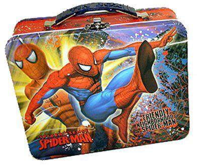 Spiderman Spider-Sense Embossed Metal Lunch Box @ niftywarehouse.com #NiftyWarehouse #Spiderman #Marvel #ComicBooks #TheAvengers #Avengers #Comics