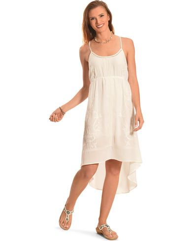 Miss Me Women's White Cross-Back Dress - Country Outfitter