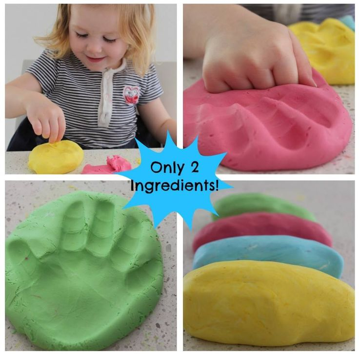 how to make playdough with 2 ingredients
