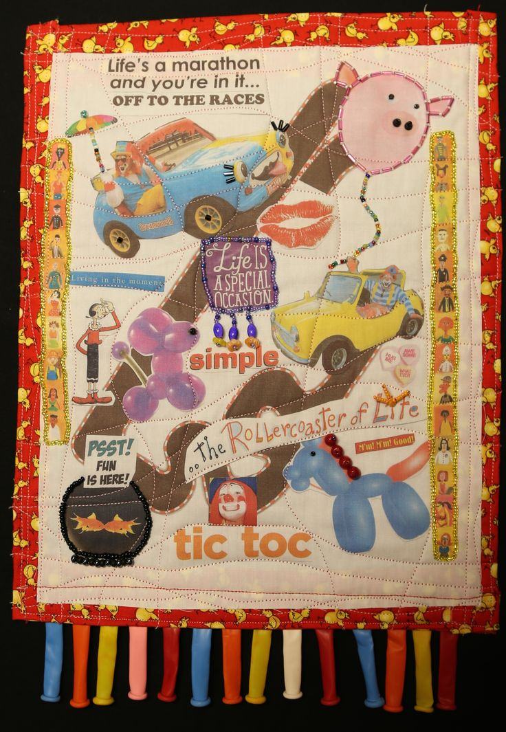"""GO CLOWN, GO! quilt by Kathy Zieben"