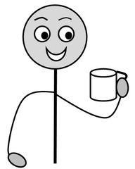 Verb: trinken / drink - Verb, Illustration, Zeichnung ...