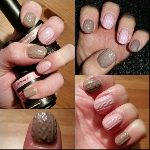 Winter nails with gellac from Pink Gellac on my own nails by Tampsi's