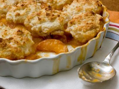Light and Fresh Peach Cobbler Recipe : Cooking Channel Recipe | Bobby Deen | Cooking Channel