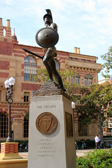 Tommy Trojan & usc campus....I miss walking (rushing) by tommy trojan to get to class on time...good ol college days