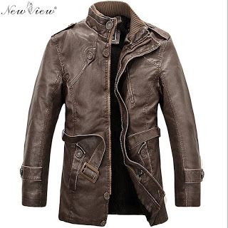 2016 PU Leather Jacket Men Long Wool Leather Standing Collar Jackets Coat Men Leather Jackets With Fur Trench Parka (32439830399)  SEE MORE  #SuperDeals
