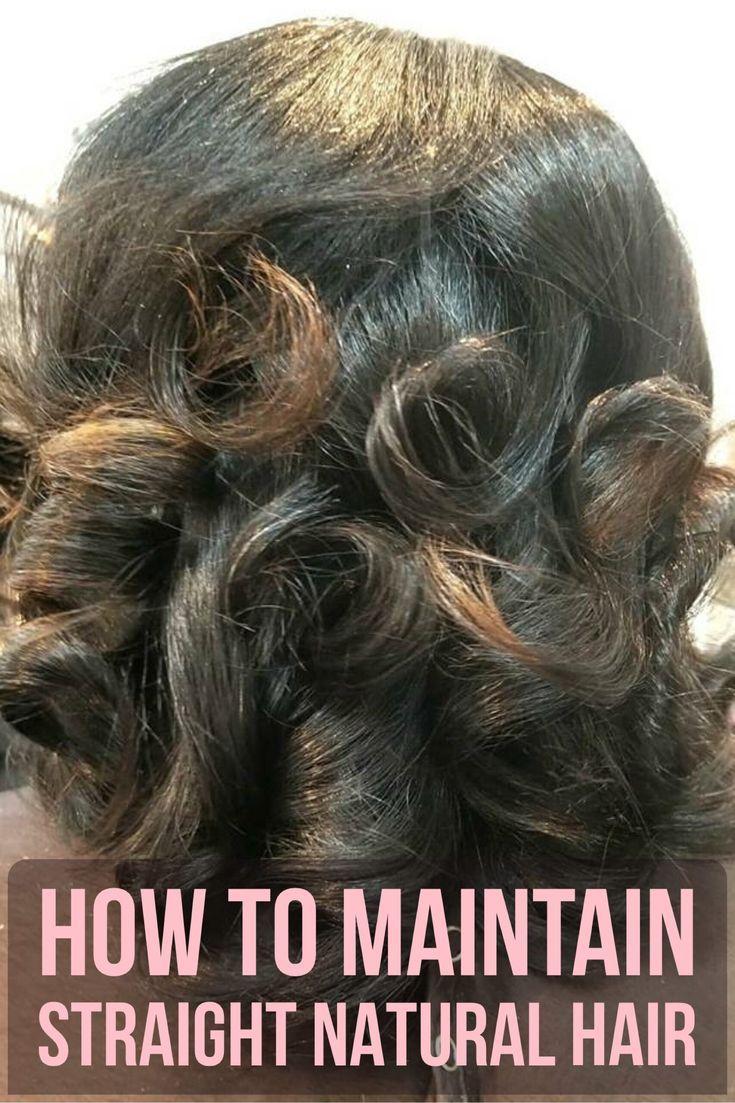 Straight Hair Regimen for Natural Hair