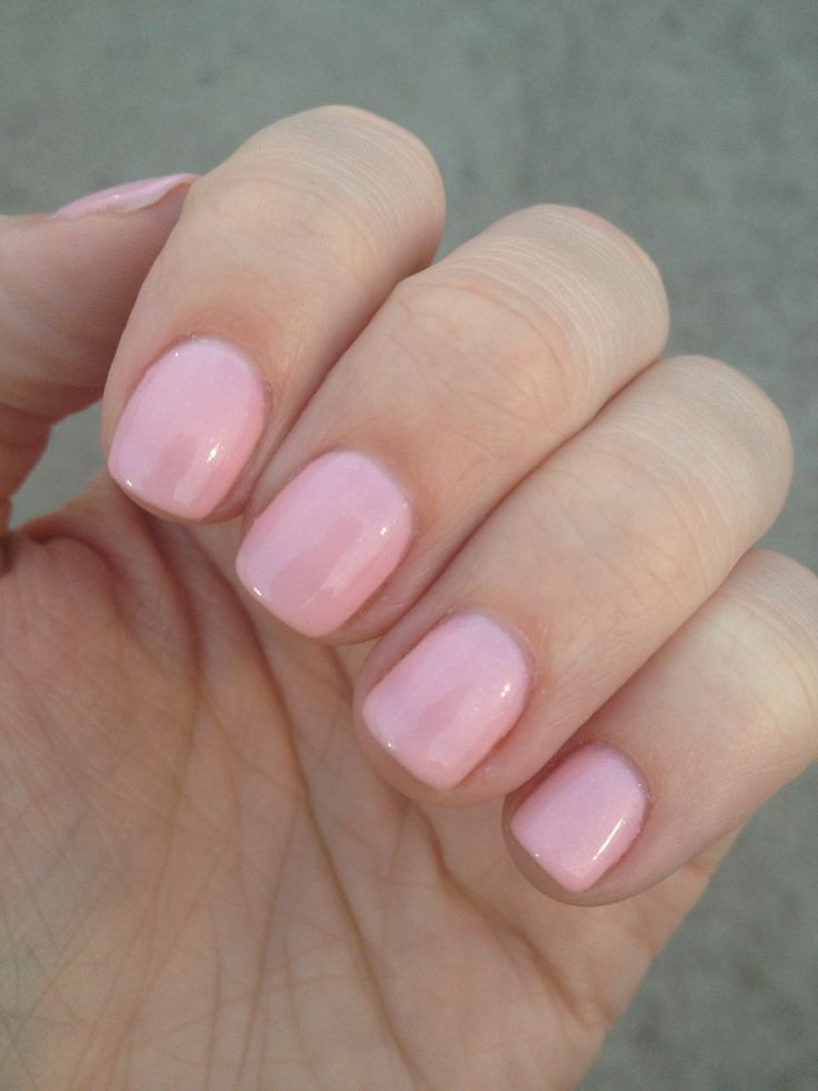 Pretty in pink - gel nails