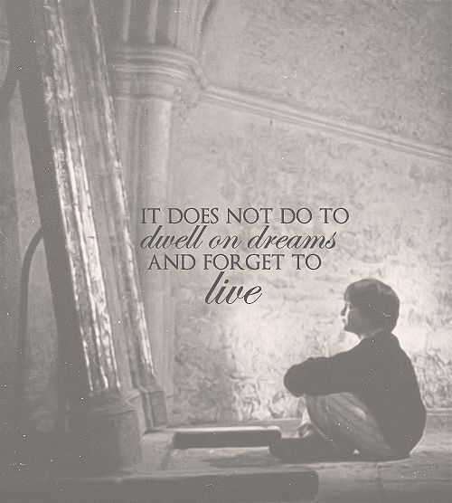 """It does not do to dwell on dreams and forget to live."" - Albus Dumbledore 