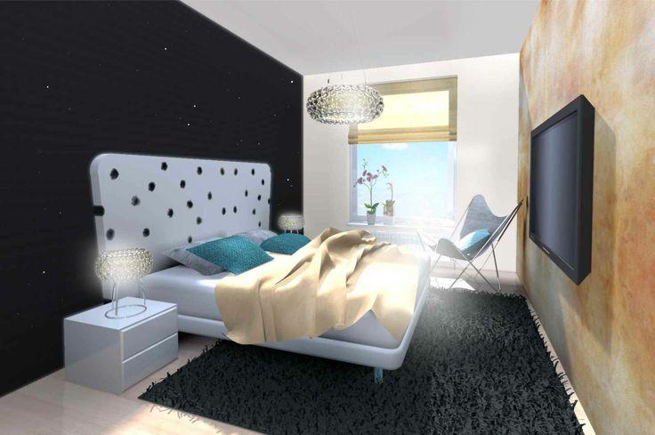 bedroom / home decor / interior design / gold in interior