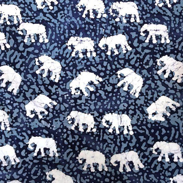 Mini Indian Elephants Batik Design