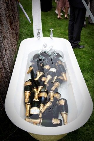 Champagne Tub; Shabby Chic Wedding (BridesMagazine.co.uk)