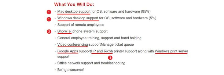 Help Desk Resume Job Description