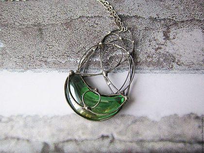 Крупные украшения, стеклянные украшения, стеклянный кулон, украшения из стекла, кулон из стекла, прозрачное стекло, олово, оловянная свадьба, оловянный кулон.