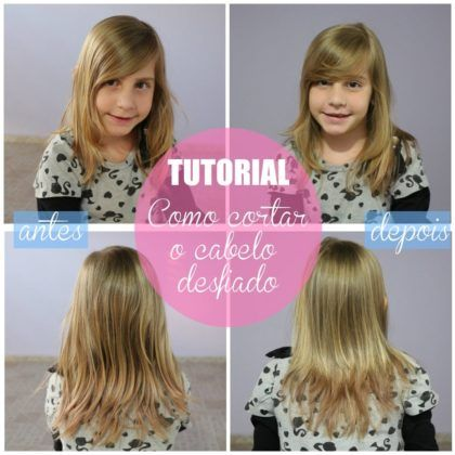 como desfiar cabelo fino e liso de criança