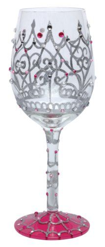 $21.76-$25.99 The My Tiara wine glass from the Lolita's Love My Wine Collection from Santa Barbara Design has a unique recipe hand painted on the bottom of each glass. Original Lolita Yancey design on a 15-ounce wine glass. A great gift for the wine lover, this popular new shape for wine glasses is appropriate for either red or white wine and is the one widely used in California winery tasting r ...