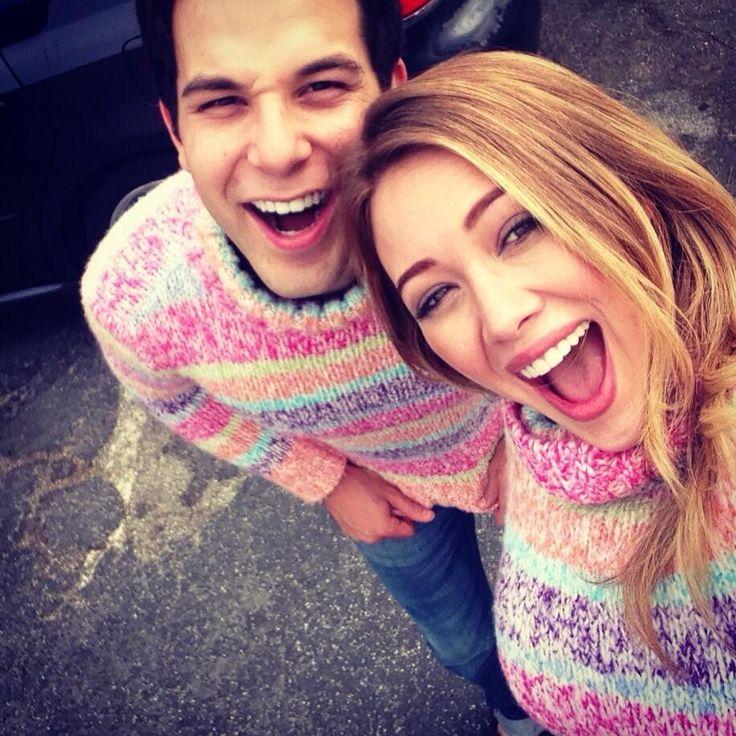 Skylar Astin and Hilary Duff