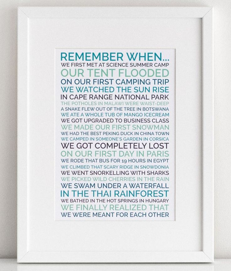 Personal Gifts For Your Husband: Create A Personalized Poster Gift For Your Boyfriend OR