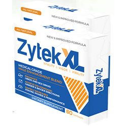 Zytek XL Review - Your virility has been risked due to multiple reasons. Of course, the primary cause why your self-esteem declines is the decline too of your manhood.
