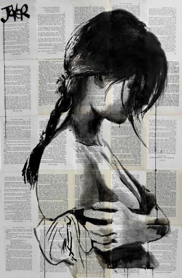 "Saatchi Art Artist Loui Jover; Drawing, ""lilian"" #art"