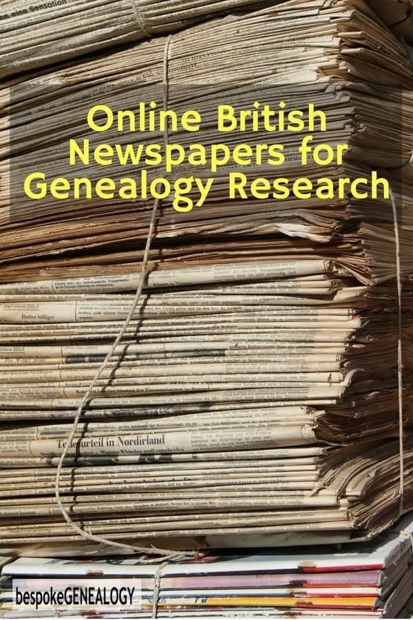Online British Newspapers for Genealogy Research