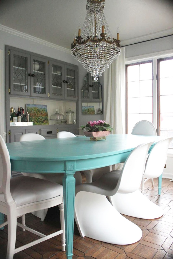 Someday I Will Own A Turquoise Dining Table So Beautiful Maybe Paint Our In The Future When Its All Scratched Up And Sad Looking