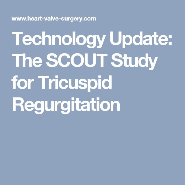 Technology Update: The SCOUT Study for Tricuspid Regurgitation