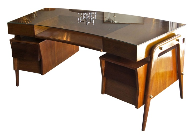 Mid Century Curved Glass Top Desk Mid Century Modern Desk Mid Century Desk Modern Desk