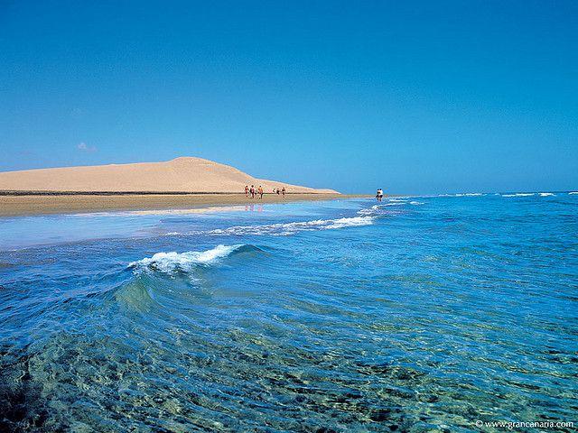 Maspalomas beach,Gran Canaria,Canary Islands.