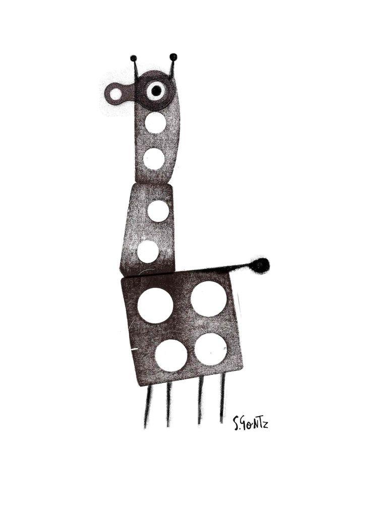 Ilustración Jirafa. Sergio Gontz