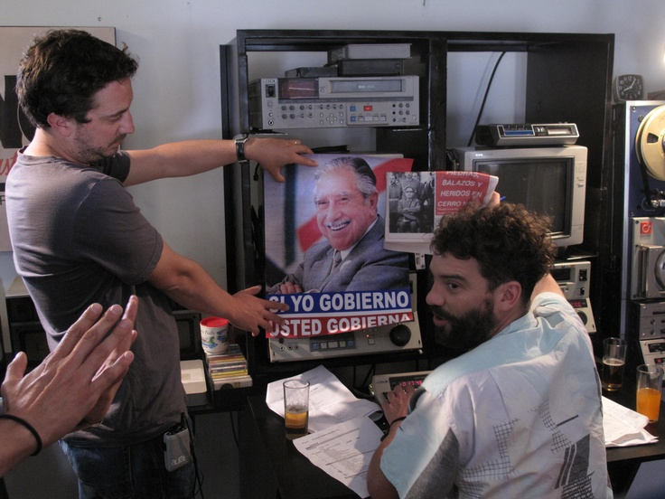 Director Pablo Larraín on the set of No