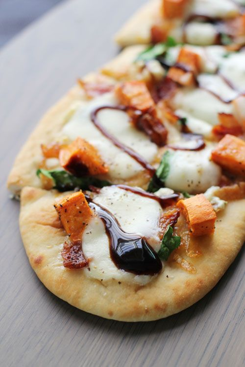Sweet Potato and Bacon Pizza | Recipe | Bacon, Sweet and ...