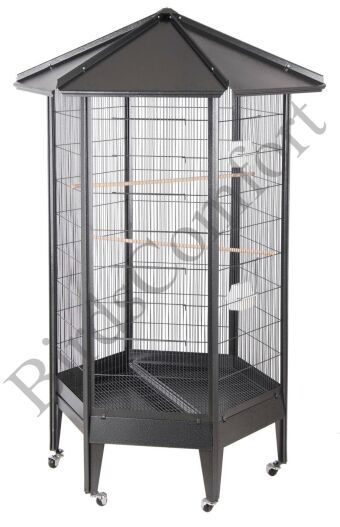 HQ Large Parrot Aviary Cage Features:  - Bar Spacing: 1/2'' - Bar Thickness: 1/14'' - Inside Height: 48'' - Weight: 80 lbs Price: $219 http://www.birdscomfort.com/parrot_aviary_cage.html