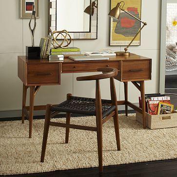 "Mid-Century Desk - Acorn #westelm 52""x24x30"