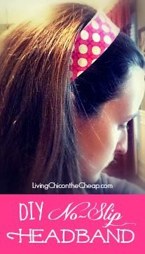 DIY No Slip Headband Tutorial. Step by Step instructions. This is super easy to make! #DIY