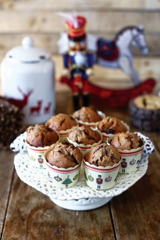Megúszós karácsonyi muffin banánnal és étcsokival • Fördős Zé Magazin