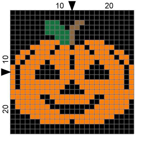 SPRE: Patterns & Design: Crochet Jack O'Lantern Graph