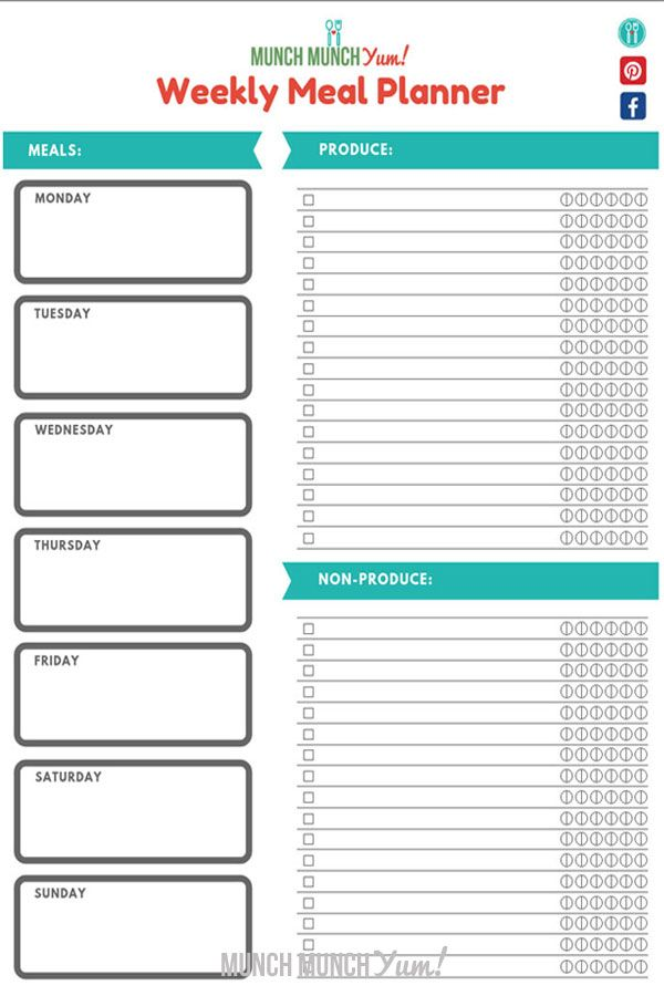 Best Meal Planner Template Free Printable Meal Planning Printable Templates Free Meal Planner Meal Planner Template