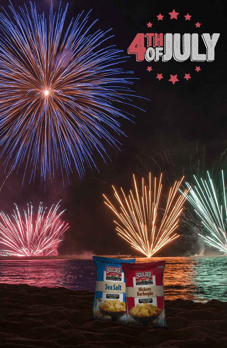 A fireworks show and Boulder Canyon chips go together like a movie and popcorn - maybe even better.