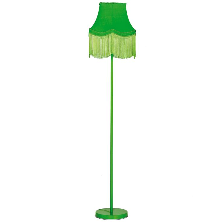 Fluoro Fringe Lime Green Floor Lamp by The French Bedroom Company, 180.00