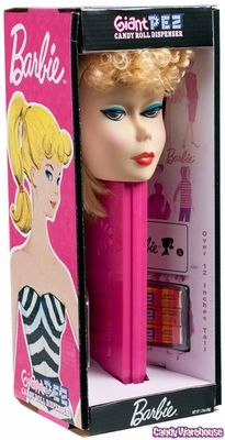 PEZ Barbie Giant PEZ Candy Dispenser  (i bought my mom this for chrimbus)