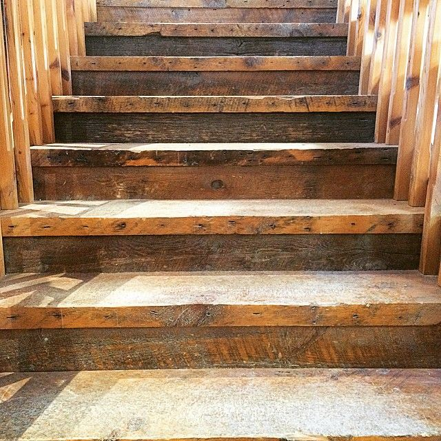 """Best """"Reclaimed Wood Stair Treads Look Fantastic In A Home 400 x 300"""
