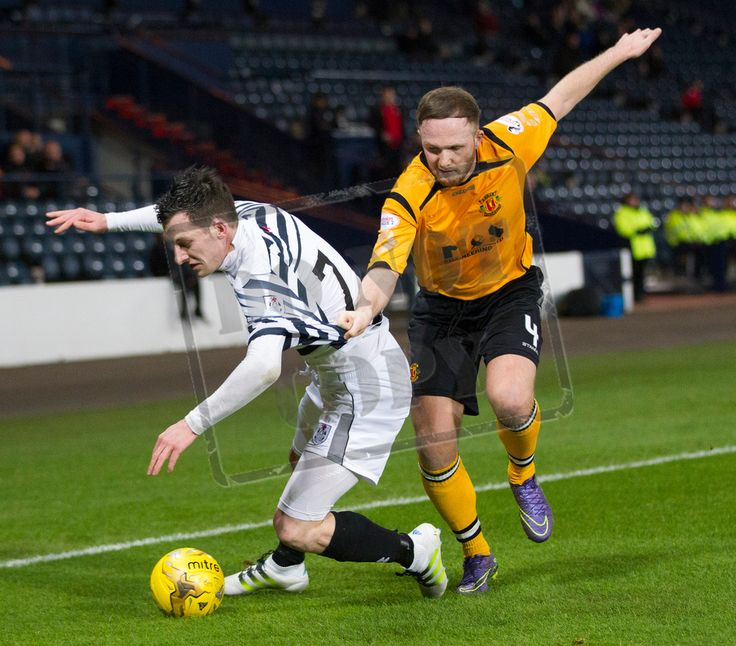 Queen's Park's David Galt is tackled during the SPFL League Two game between Queen's Park and Annan Athletic.