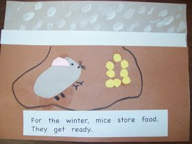 learning about animals in winter- we pretend to store up food for winter (by eating popcorn), then we hibernate around the classroom, then w...