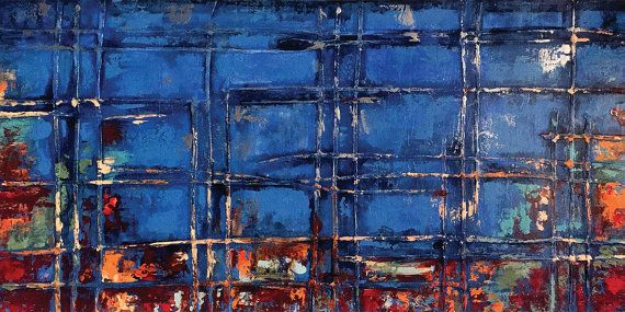 Dwarka  72 x 36 inches Acrylic Abstract Painting by acasaARTstudio