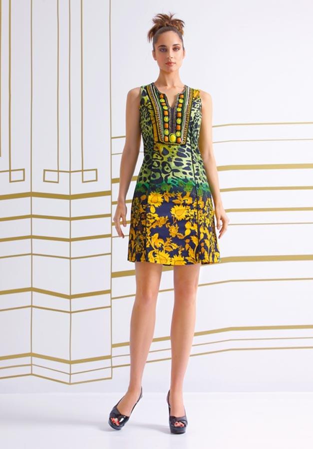 """http://www.nizaonline.com/es/primavera-verano-2013/mujer/vestidos/#{""""product"""":""""330""""} VESTIDO ESTAMPADO LEOPARDO CUELLO BORDADO"""